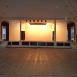 Union Hall is on the second floor of the CA Community Center.  It is a wonderful place for the Contra Dance Lessons.