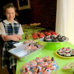 Kristie Miner Photo Emma Hawkins, 9, whipped up some special treats for this year's Cupcake Battles held at Kindred Westgate on April 18 in Bangor. Emma's entry of Birthday Cupcakes was recognized as runner up for most creative design. Westgate's third annual Cupcake Battles raised $600 for its Walk to End Alzheimer's team. Information about the walk and the Alzheimer's Association, alz.org.