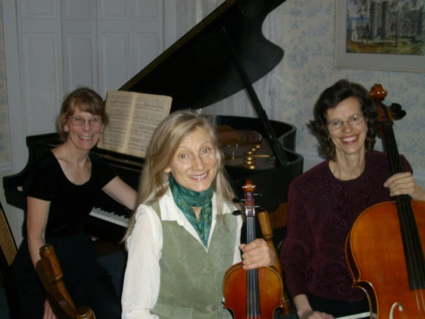 From left to right, pianist Margery Aumann, violinist Susan Ramsey, and cellist Ruth Fogg.