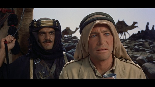 "Omar Sharif and Peter O'Toole in ""Lawrence of Arabia"""