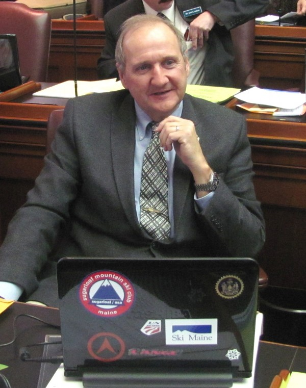 Rep. Larry Dunphy (R-Embden) in the House Chamber.