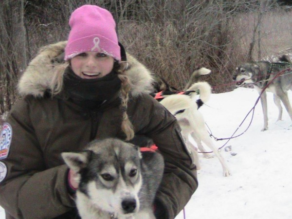 TAMC Nurse Jessica Holmes, a regular competitor in the Can-Am Sled Dog Races in Fort Kent, is passionate about both her profession and her four-legged extended family.