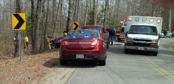 A South China woman was killed in a single-vehicle accident on Stone Road on Friday afternoon, state police said.