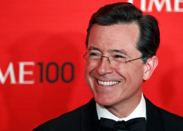 Comedian Stephen Colbert arrives to be honored at the Time 100 Gala in New York in this April 2012 file photo. CBS announced Thursday that Colbert will be the next host of &quotThe Late Show.&quot