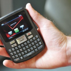 The small hand held, pocket size device allows better communication between staff at Calais Regional Hospital courtesy of the CRH Auxiliary.