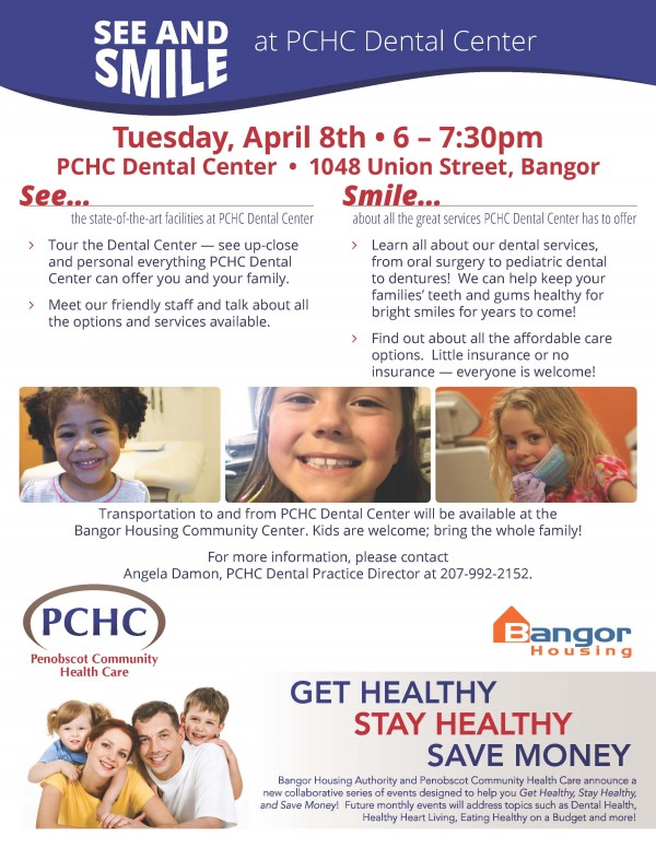 PCHC Dental Center to Host See & Smile Event April 8th