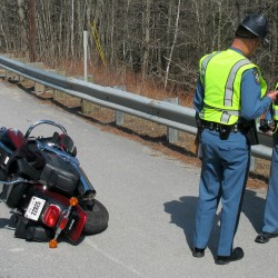 Motorcyclist hurt in Blue Hill collision