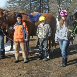 Mud Pony club members and 'Staff' invite everyone to Come Pet a Horse