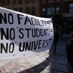 USM and UMS student groups rally in downtown Portland