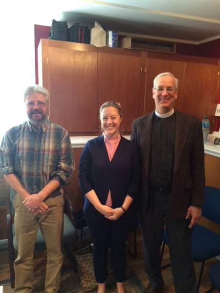 Rev. Vanessa Colesworthy of the Thomaston Federated Church is pictured here with the Rev. Wayne Sawyer of Thomaston Baptist Church and the Rev. Peter Jenks of the Episcopal Church of St. John Baptist.