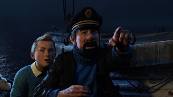 "Tintin and Captain Haddock in ""The Adventures of Tintin"""