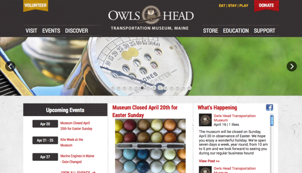 Visit the Owls Head Transportation Museum's new website at owlshead.org.