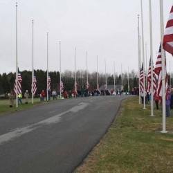 Volunteers place thousands of flags on veterans' graves in Augusta
