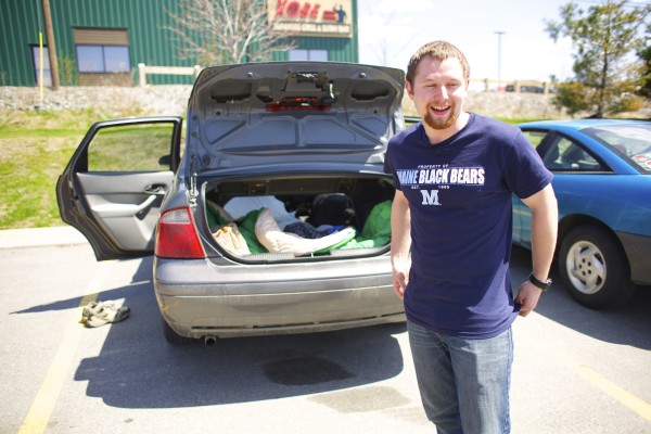 For the last four years of classes as a biology student at University of Maine, Orono, Josiah Corbin, has slept in his car. Corbin's parking lot of choice has been the Walmart lot and it saved him tens of thousands of dollars in UMaine resident fees.