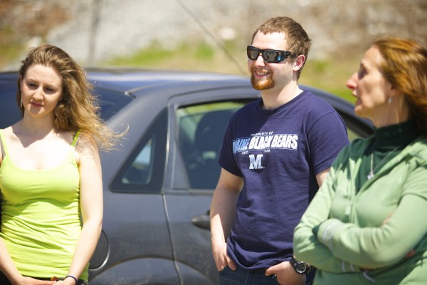Katrina (from left), Josiah and Rita Corbin all are graduating from college this weekend. For the last four years of classes, as a biology student at the University of Maine in Orono, Josiah Corbin has slept in his car. Corbin's parking lot of choice has been the Walmart lot and it saved him tens of thousands of dollars in UMaine resident fees.