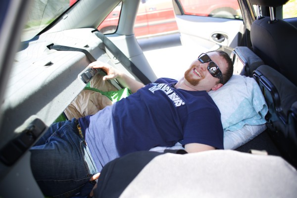 For the last four years, while taking classes as a biology student at the University of Maine in Orono, Josiah Corbin has slept in his car. Corbin's parking lot of choice has been the Walmart lot and it saved him tens of thousands of dollars in UMaine resident fees.