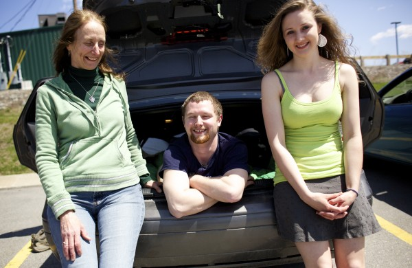 Rita (from left), Josiah and Katrina Corbin all are graduating from college this weekend. For the last four years of classes, as a biology student at the University of Maine in Orono, Josiah Corbin has slept in his car. Corbin's parking lot of choice has been the Walmart lot and it saved him tens of thousands of dollars in UMaine resident fees.