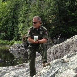 Biologists plant Atlantic salmon eggs in Winterport's Cove Brook