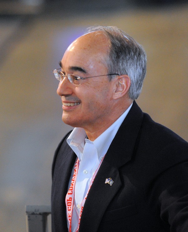 Former state treasurer Bruce Poliquin of Oakland at the 2014 Maine Republican Convention at the Cross Insurance Center in Bangor