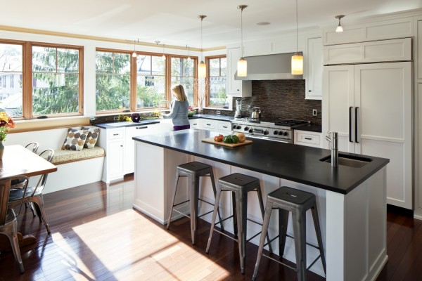 Kitchens like this stunning redesign featured in a CU-Promise Loans commercial during the Super Bowl are part of the Portland Kitchen Tour this weekend.