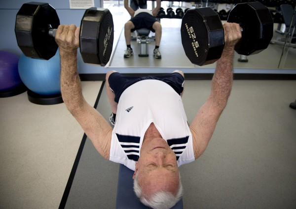 Gerald Campbell may be turning 80 in October, but he still is a fitness instructor and is training in Hurst, Texas, for an upcoming lifting competition.