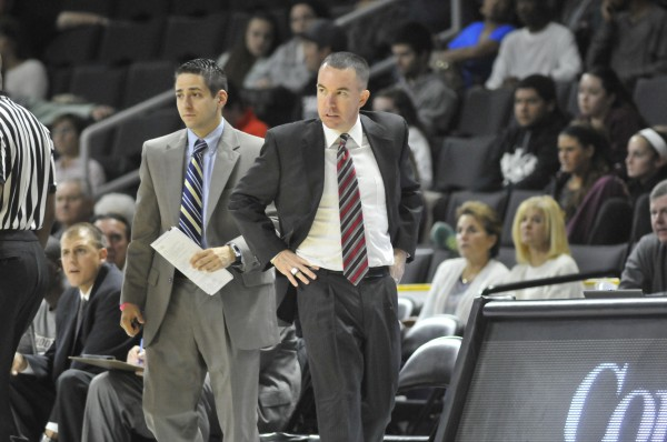 Bob Walsh (right), the coach at Rhode Island College, was named the men's basketball coach at the University of Maine on Wednesday.