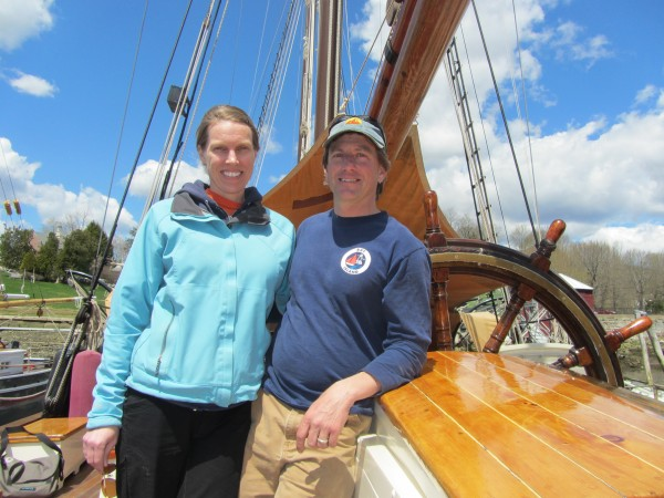Candace Kuchinski and Dennis Gallant have purchased the windjammer Angelique and will begin sailing her later this month out of Camden Harbor.