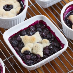 Cookie-Topped Blueberry Mini Pies.