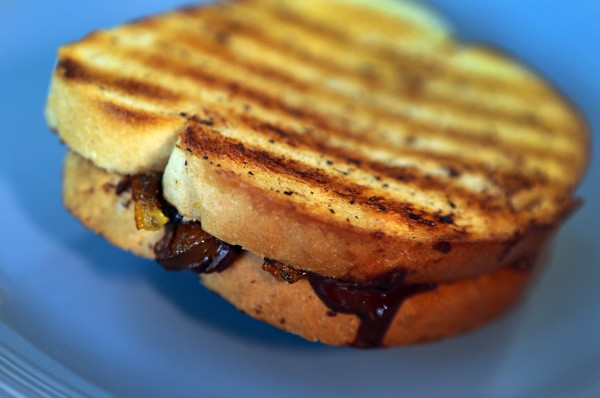 Grilled Chocolate Marmalade Sandwich