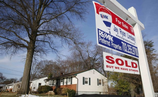 This house in Vienna, Virginia, has been sold. So far this year, one in three homebuyers in the U.S. is paying cash.