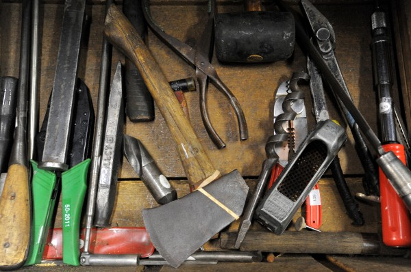 The contents of one of the hundreds of drawers at Liberty Tool Co. in Liberty.