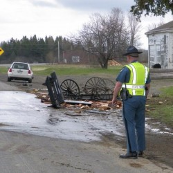 Horse-drawn buggy carrying five Amish struck by vehicle in Easton