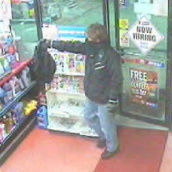 Saco police seek burglar who took $1,000 in cigarettes, energy drinks from convenience store