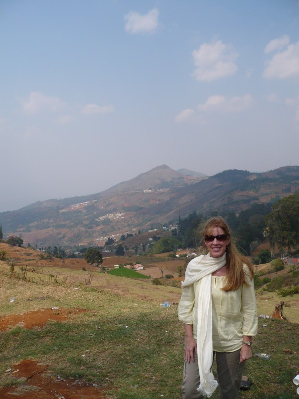Amy Cotton, a nurse practitioner and director of operations and senior services quality for Eastern Maine Healthcare Systems, in the mountains of India in April 2013.