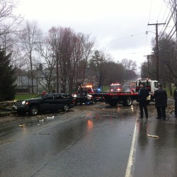 Woman, child hurt when tree branch fell on SUV in fair condition at Portland hospital