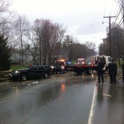 Tree falls on SUV in Orono, trapping mother and child inside
