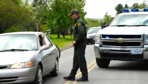 Agents with U.S. Customs and Border Protection were blocking traffic on roughly two miles of Route 161 in St. Francis while multiple agencies searched Saturday for 38-year-old Jesse Marquis in connection with a shooting fatality earlier that morning. Marquis is described as armed and dangerous.