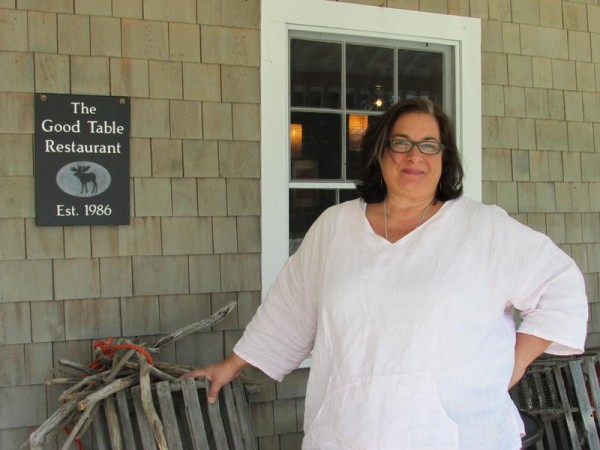 Lisa Kostopoulos, owner of The Good Table on Ocean House Road in Cape Elizabeth.