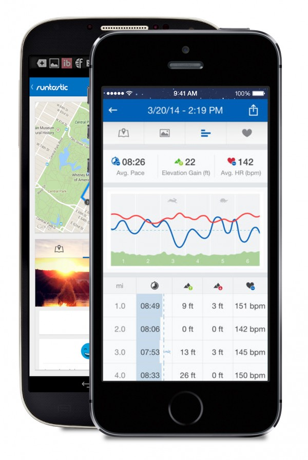 The running app Runtastic tracks pace, distance, routes and heart rate and offers a slew of other features.