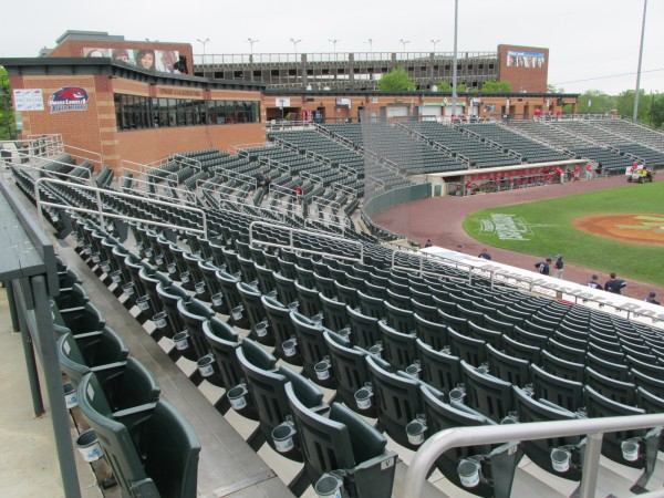 LeLacheur Park in Lowell, Massachusetts, the home of the Class A Lowell Spinners, is the site of the 2014 America East Baseball Championship.