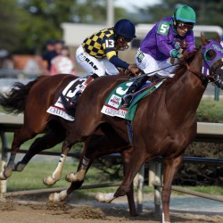 Tonalist upsets California Chrome to win Belmont