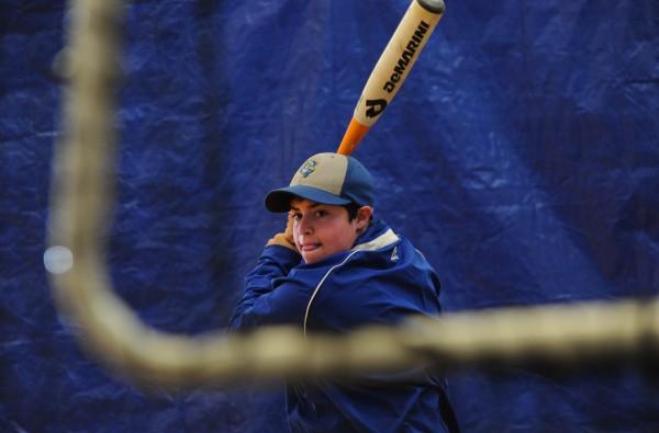 Ghazaleh Sailors takes batting practice with the University of Maine-Presque Isle baseball team recently.