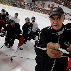 Grandfather, grandson coaching John Bapst hockey together