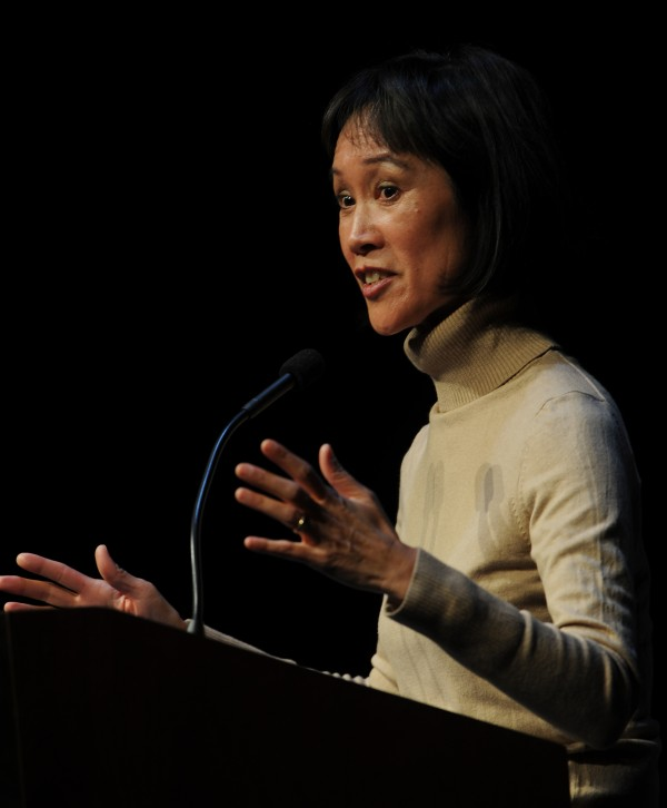 Best-selling author Tess Gerritsen speaks Tuesday, April 20, 2010 at the Gracie Theatre at Husson University.