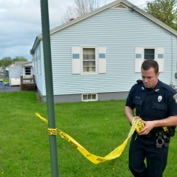 Police collect evidence at scene of suspicious death in Waterville
