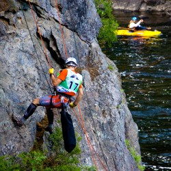 Zipping over Grand Falls requires a leap of faith