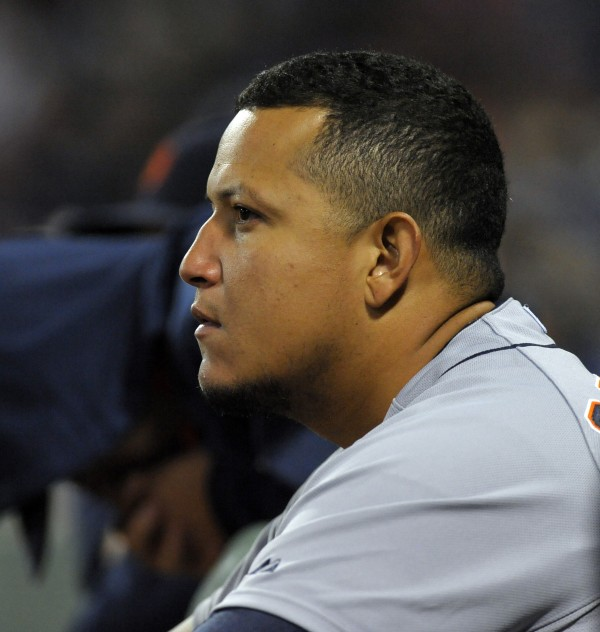 Detroit Tigers first baseman Miguel Cabrera had a solo home run, an RBI single and a double in his team's 6-1 win over the Boston Red Sox Saturday night at Fenway Park in Boston.
