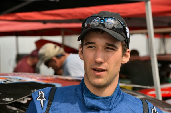 Fort Kent driver Austin Theriault finished in 15th in Sunday's NASCAR Nationwide race in Newton, Iowa.