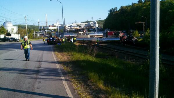 Police in Bucksport are investigating an accident in which a train and a tanker truck collided Saturday.