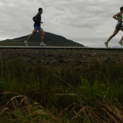 Bangor man proposes to running partner at finish line of Sugarloaf road race